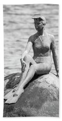 Girl In A Wetsuit Beach Sheet