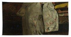 Girl In A White Kimono, 1894 Beach Sheet