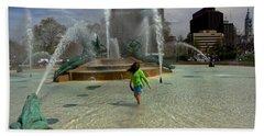 Girl In Fountain Beach Towel