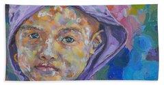 Burma Girl In Purple Beach Towel