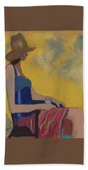 Girl In The Brown Hat Beach Towel