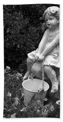 Beach Sheet featuring the photograph Girl On A Mushroom by Sandi OReilly