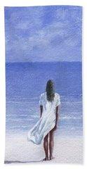 Girl On Beach Beach Towel