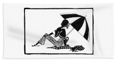Girl On The Beach Beach Towel