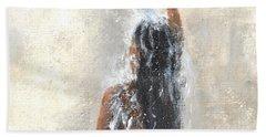 Girl Showering Beach Towel