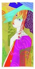 Girl With Beanie  Beach Sheet