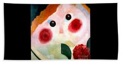 Girl With Buttercups Beach Towel by Pg Reproductions