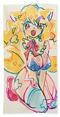 Girl03 Beach Towel