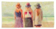 Girlfriends At The Beach Beach Towel