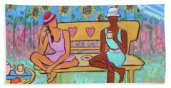 Beach Towel featuring the painting Girlfriends' Teatime IIi by Xueling Zou