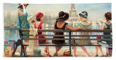 Beach Towel featuring the painting Girls Day Out by Steve Henderson