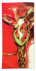 Giselle The Giraffe Beach Towel by Gallery Messina