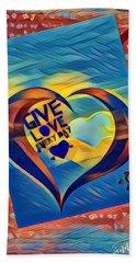 Give Love Beach Towel