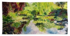 Beach Towel featuring the painting Giverney by Mary K Conaboy