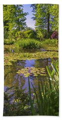Beach Towel featuring the photograph Giverny France - Claude Monet's Pond  by Allen Sheffield