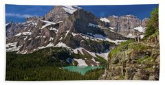 Beach Towel featuring the photograph Glacier Backcountry 2 by Gary Lengyel