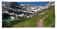 Beach Towel featuring the photograph Glacier Backcountry Trail by Gary Lengyel