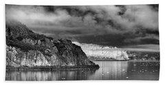 Glacier Bay Alaska In Bw Beach Towel