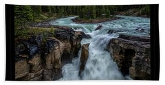 Glacier Falls Beach Towel