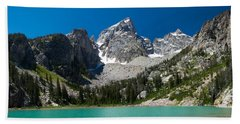 Glacier Fed Teton Lake Beach Towel by Serge Skiba