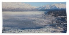 Glacier In Alaska Beach Towel