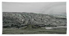Glacier In Iceland Beach Towel