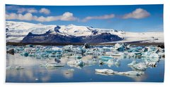 Beach Towel featuring the photograph Glacier Lagoon In Iceland by Matthias Hauser