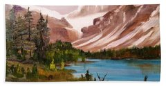 Glacier Lake Beach Towel by Larry Hamilton