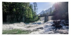 Glacier National Park Beauty Beach Towel