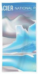 Glacier National Park Vertical Scene Beach Towel