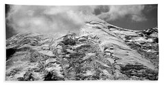Beach Towel featuring the photograph Glacier On Mt Rainier by Lori Seaman