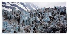 Glaciers Closeup - Alaska Beach Sheet