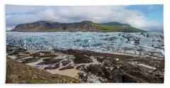 Glacier, Vatnajokull National Park, Iceland Beach Towel