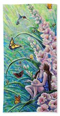 Glad To Be Here Beach Towel by Gail Butler