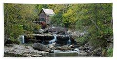 Glade Creek Grist Mill Beach Towel