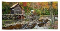 Glade Creek Grist Mill In Autumn Beach Sheet