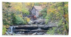 Glade Creek Grist Mill In Autumn Beach Towel