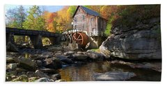 Beach Towel featuring the photograph Glade Creek Grist Mill by Steve Stuller