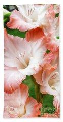 Gladiolus Ruffles  Beach Towel by Rachel Hannah