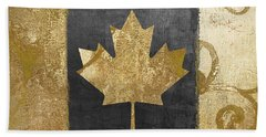 Glamour Gold Canada Flag Beach Towel