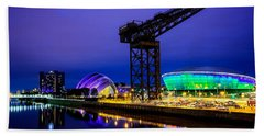 Glasgow At Night Beach Towel
