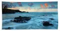 Glass Beach Dawn Beach Towel