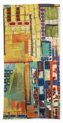 Beach Towel featuring the painting Glass Bottom Boeing by Donna Howard