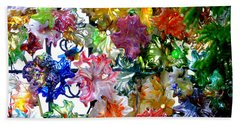 Glass Flower Garden In The French Quarter Of New Orleans Louisiana Beach Sheet by Michael Hoard