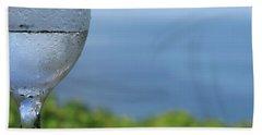 Beach Towel featuring the photograph Glass Half Full by JoAnn Lense