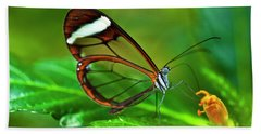 Beach Towel featuring the photograph Glasswinged Butterfly by Ralph A Ledergerber
