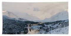 Glen Affric In The Snow Beach Sheet