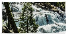 Glen Alpine Falls 1 Beach Towel