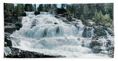 Glen Alpine Falls Mist Beach Towel