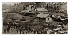 Glen Lyon Pa Susquehanna Coal Co Breaker Late 1800s Beach Sheet